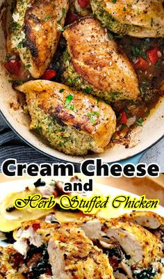This Cream Cheese and Herb Stuffed Chicken is a new, delightful, low carb supper formula that is incredible any season. The chicken bosoms are prepared with salt and pepper and loaded down with cream cheddar, garlic, dill, chives, and parsley. Chicken Salad Recipes, Healthy Soup Recipes, Low Calorie Recipes, Vegetarian Recipes, Breakfast Appetizers, Breakfast Ideas, Instant Pot Dinner Recipes, Best Dinner Recipes, Thanksgiving Desserts