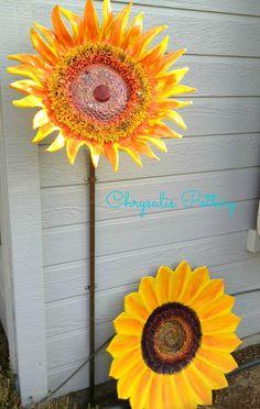 """Garden Sunflowers"" ~ by Chrysalis Pottery www.facebook.com/BarbJohnson.pottery"