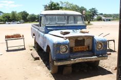 Kotwa, Zimbabwe,  The Land Rover was the stores advertisement.