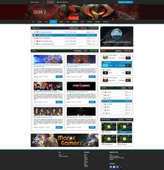 Web template by gamer for gamers.
