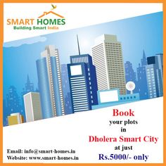 Book your plot in #Dholera Smart City @ Just Rs. 5000, Buy 1 Get 1 Plot FREE!!!http://bit.ly/1VLXkS8