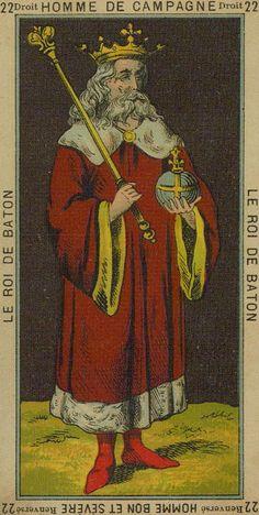 Etteilla Tarot - 22 - King of Wands