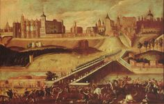 Ca. 1650-60. View of Madrid. Anonymous. Municipal Museum of Madrid (Spain)