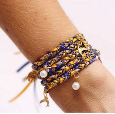 Fun Tri Delta wrap bracelet!  ~  so cute!