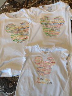 Our Disney shirts I made on tagxedo Cinderella 2014, Tagxedo, Disney Shirts, Minnie Mouse