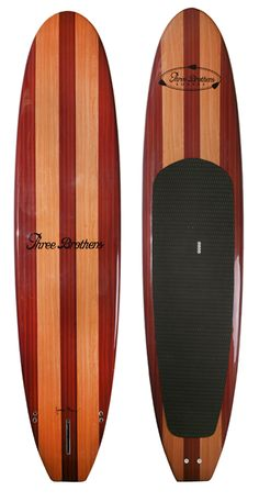 Three Brothers Boards - Stand Up Paddle Board - Designed for the surf and designed for performance surfing with a Stand Up Paddle Board Wooden Paddle Boards, Wooden Surfboard, Surf Design, Standup Paddle Board, Skateboard Design, Sup Surf, Water Crafts, Paddle Boarding, Beach Fun