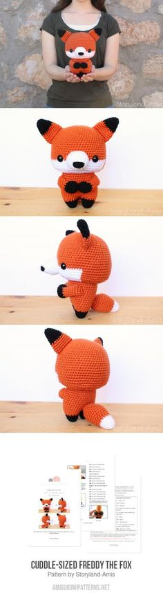 Cuddle-Sized Freddy the Fox amigurumi pattern