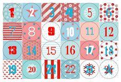 Adventskalender Zahlen zum download; perfekt für Buttons zu machen