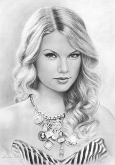 Museum Quality Pencil / Charcoal Portrait Drawing Sketch (need I say Taylor Swift? Easy Pencil Drawings, Pencil Drawing Tutorials, Amazing Drawings, Realistic Drawings, Pencil Art, Drawing Ideas, Charcoal Portraits, Charcoal Drawings, Celebrity Drawings