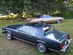 1985 Cadillac Eldorado Commemorative Edition with 1968 Cadillac Eldorado Biarritz in background
