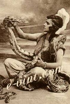Vintage Circus Snake Charmers Image Download Contents