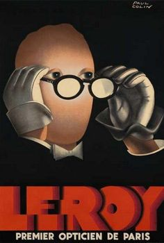 Leroy, opticians, Paul Colin    courtesy of Vintage Advertising and Poster Art