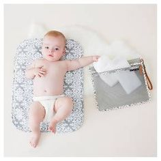 Petunia Take-Along Changing Kit-Breakfast in Berkshire: Compact and clever, the Take-Along Changing Kit is a must-have accessory for diaper changing essentials on the go. This unique 3-in-1 kit offers a PPB-monogrammed wipes case and a playfully printed changing pad housed in an easy-to-clean and easy-to-tote mesh pouch. Features: Kit contains PPB-monogrammed wipes case, printed changing pad and space to stow a couple diapers and other small diapering essentials; Wide zipper at top allows…