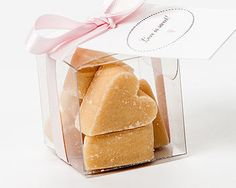 Scottish Tablet Heart Wedding Favour - Would love to do shortbread as well