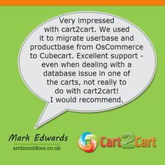 Check up this testimonial, and take a look what people say about Cart2Cart #testimonials #ecommerce