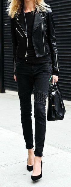 All black chic.