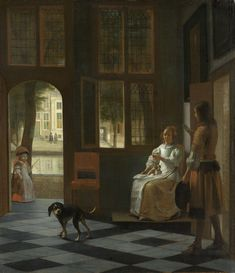 Pieter de Hooch (Dutch, 1629-in or after 1684) - Nonetheless, offering a letter in a house, 1670.  Rijksmuseum
