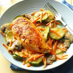 Stovetop Tarragon Chicken Recipe -My oldest daughter can't get enough of the tarragon sauce. She uses biscuits to soak up every drip. My husband and I like it over mashed potatoes. —Tina Westover, La Mesa, California