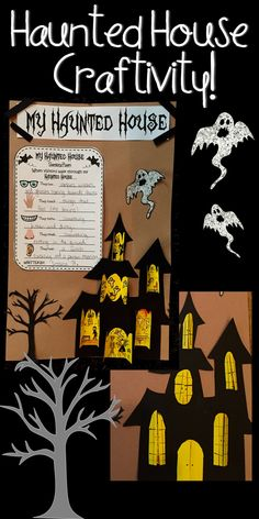 Haunted House Craftivity!  #teacherspayteachers #craftivity #hauntedhouse #halloween