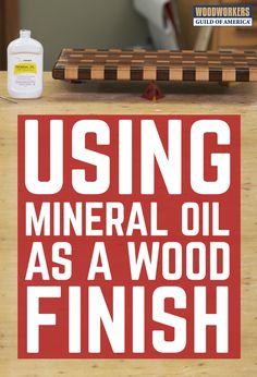 Why put mineral oil on wood? The biggest reason is that it's an excellent food-safe finish. For many woodworkers, mineral oil is the go-to sealer for cutting boards and wooden kitchen utensils; anything that may come in contact with food. It's so easy to apply, easy to get (any pharmacy will have it, or you can order it here), and it works great.