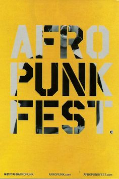 Afro Punk Fest, Brooklyn, NY Asked my Dad to come with me in '08. Now that would've been humorous