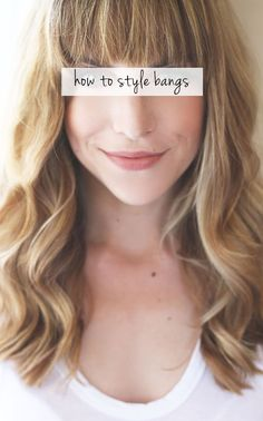 how to style straight-across bangs.. I'm gonna need this for when my bangs are short.