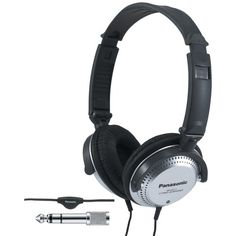 Monitor Headphones Panasonic Ht227 With In-cord Volume Control Over Ear  Headphones 4a9500dab8