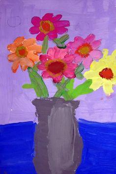 Artsonia Art Museum :: Artwork by Anna9400  Still Life Painting-Gerber Daisies