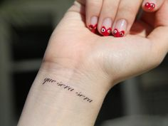 I want this tattoo so bad. Que Sera Sera = whatever will be, will be. (French)