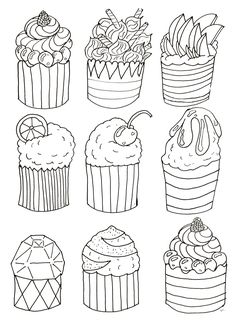 coloring-simple-cupcakes-by-olivier, From the gallery : Cup Cakes
