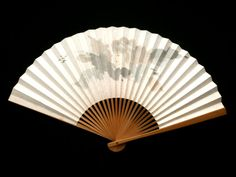 Japanese Hand Held Fan - Vintage Paper Fan - Sensu - Mai Ogi - Vintage Folding Fan - Japanese FanF251 woman illustration