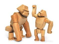 Areaware Hanno der Gorilla aus Holz geschnitzten Schmuckelement Spielzeug