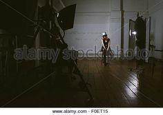 Fashion model in photo studio Stock Photo