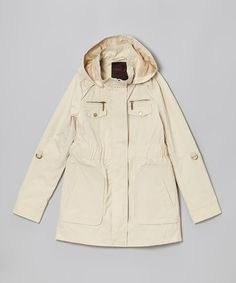 Loving this Stone Twill Parka - Girls on #zulily! #zulilyfinds   For Sophie, Jayden & Sydnie. Scarfs on this board are to go with this light jacket or could be doubled up on the heavier coats.