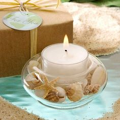 These beautiful glass seashell tealight holders are great as beach themed wedding favors or favors for and beach themed party event. Candle Wedding Favors, Candle Favors, Candle Holders, Beach Wedding Reception, Beach Wedding Favors, Wedding Ideas, Beach Weddings, Wedding Themes, Wedding Stuff