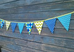 Fabric Bunting Flags Party Banner Birthday Banner by BooBahBlue