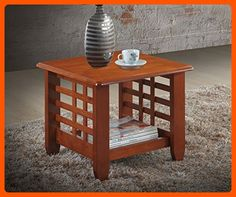 Baxton Studio Lamon Modern Classic Mission Style Cherry Finished Wood Living Room Occasional End Table - Improve your home (*Amazon Partner-Link)