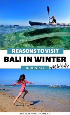 5 Reasons to Visit Bali in the Winter. Are you looking for a winter getaway? Consider a vacation in Bali with kids to beat the cold. I things to do in Bali I where to go in Indonesia I places to go in Bali I places to visit in Indonesia I Bali travel I family travel in Bali I what to do in Bali I Indonesia destinations I destinations in Indonesia I things to do with kids in Bali I South East Asia travel I winter travel I Winter travel destinations I #Bali #Indonesida #familytravel Indonesia Destinations, Travel Destinations, Travel Tips, Toddler Travel, Travel With Kids, Family Travel, Road Trip With Kids, Family Road Trips, Bali With Kids