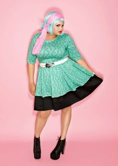 Domino Dollhouse - Plus Size Clothing: Bones Skater Dress