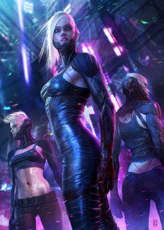 Cyberpunk , Soufiane Idrassi on ArtStation at https://www.artstation.com/artwork/Eeawe