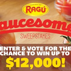 Learn what it means to be Saucesome and enter for a chance to WIN $12,000 towards a Saucesome kitchen makeover from Ragú®! Sweeps ends 7/8/15.