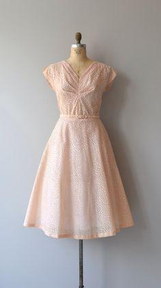 Quartz Bubble dress vintage 1950s dress pink 50s by DearGolden