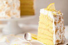 Zitronen-Baiser-Kuchen - Rezept