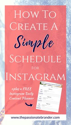 A plan of attack is important if you want your business to be successful on Instagram! Learn simple ways to create a content schedule for Instagram to grow your followers and build your brand. PLUS, get the free download to make it even easier!