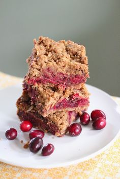 Eat Good 4 Life » Healthier cranberry crumble bars