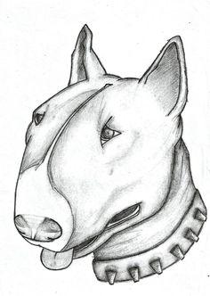 The Bull Terrier by ItalianGirl93  #deviantart #tattoo #bullterrier #dog #cane #drawing #art #collar #pencil #matita