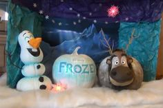 Halloween Pumpkin Display (Frozen's Olaf & Sven) at Disney's Old Key West Resort