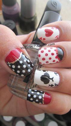 Wonderland fingernails.