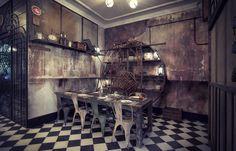 Photo.Restaurant style vintage n5.