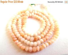 """15% OFF Wholesale 1 Strand Pink Opal Rondelle Micro Faceted 2.5-3 mm 13"""" Length AAAmazing quality 100 Percent Natural Loose Beads ab-48    Receive One Similar To The Photo. Color And Patterns May Vary.    Stone: Pink Opal    Shape: Micro Faceted Rondelle  Beads.    Style: Faceted Style.    Clarification:-    Lighting And Background Causes Different Effects. Color May Not Appear Exactly As In Pictures Due To Monitor Resolution And Light, So Please See All Photos Before Bidding Or Buy…"""